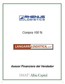 IMAP Albia Capital asesora a LANGARRI LOGISTICA en la incorporación